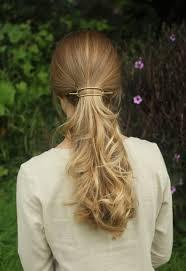 hair slide minimalist brass hair slide pony holder large by kapelika
