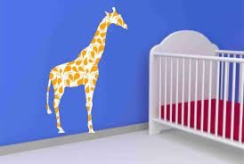 giraffe wall decal with paisley pattern for nursery on luulla giraffe wall decal with paisley pattern for nursery