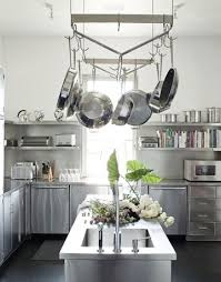 Kitchen Island With Hanging Pot Rack 122 Best Pot Rack Images On Pinterest Kitchens Small Kitchens
