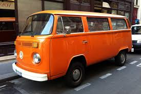 volkswagen orange combi volkswagen bay window orange une voiture de collection