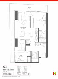 m city e04 floor plan u2013 2 bed flex 2 bath u2013 1148 sf u2013 m city