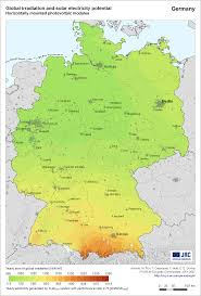 Bremen Germany Map by Global Irradiation And Solar Electricity Potential In Germany
