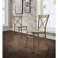 Distressed Bistro Chair Dining Room French Cafe Chairs Metal Industrial Look Chairs