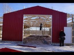 Little Barns Little Red Pole Barn Building Pt Iii Youtube