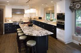 Two Tone Kitchen Cabinet Two Tone Kitchen Cabinets Black And White Simple Handling Cabinets