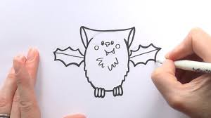 how to draw a cartoon vampire bat for halloween youtube