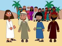 free bible images preschool version of jesus feeding 5 000 with