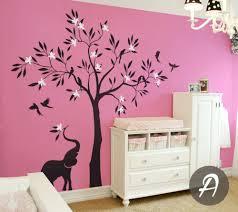 Nursery Tree Wall Decal by Wall Ideas Tree Wall Mural Tree Wall Mural Diy Tree Wall Decals