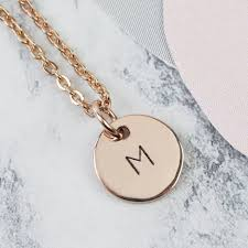 sted initial necklace initial disc charm necklace best necklace 2018