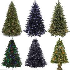 5ft 6ft 7ft pre lit premium tree pine tips stand black