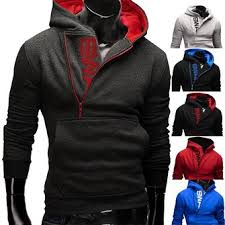 mens side zipper hoodies mens jersey sports outdoor turn down
