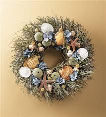 seashell wreath nautical gifts wind weather