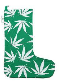 amazon com marijuana leaf christmas stocking green limited