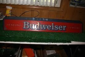 vintage budweiser pool table light rare vintage genuine budweiser beer hanging pool table bar l