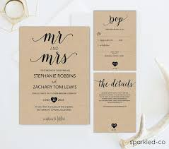 rustic wedding invitation templates 25 best diy wedding invitations images on wedding