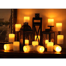Outdoor Candle Lighting by Amazon Com Home Impressions 3x4 Inches Flameless Plastic Pillar