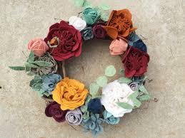 diy felt floral wreath