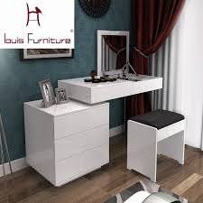Bedroom Dresser Fashion White Paint Small Apartment Telescopic Minimalist Modern