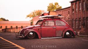 volkswagen old beetle modified brent favreau u0027s 1961 red over red ragtop volkswagen beetle