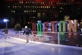 boston winter in city hall plaza is actually really cool