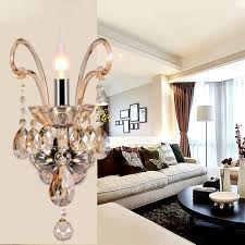 Crystal Candle Sconces Light Crystal Candle Wall Sconces For Foyer Antique
