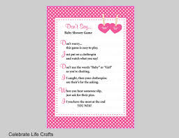clothespin baby shower don t say baby or girl baby shower printable