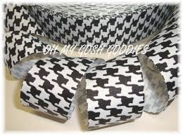 alabama ribbon houndstooth ribbon black white ribbon black houndstooth
