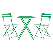 Metal Folding Bistro Chairs Parc 2 Seat Green Metal Folding Bistro Table And Chairs Set