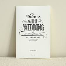 Order Wedding Programs Handlettered Love Wedding Program Order Of Service Diy