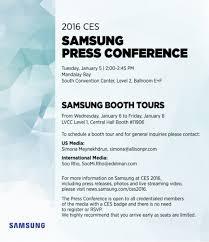 samsung announced ces conference invitation letter
