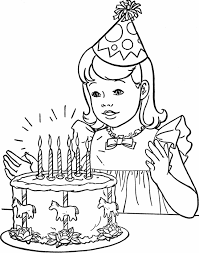 kids party halloween clipart u2013 birthday cake coloring pages for kids kids coloring