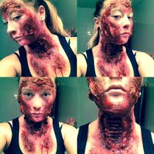 liquid latex wounds with open throat wound all made with liquid
