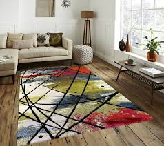 Modern Floor Rug 103 Best Multi Coloured Rugs Images On Pinterest Rug Size Blue