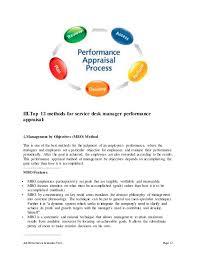 help desk manager job description service desk manager performance appraisal