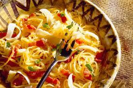cuisiner la courge spaghetti liste recette courge spaghetti au bacon salewhale ca