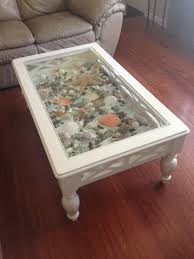 Shadowbox Beach Themed Seashell Shadowbox Seaglass Beach Decor by White Coffee Table That I Added A Bottom To And Filled With Sea