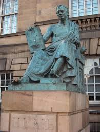 statue of david hume on the royal mile in edinburgh by edinburgh