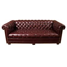 Plum Leather Sofa Chesterfield Sofa In Merlot Plum Leather With Brass Nails At 1stdibs