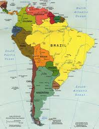 Countries Map South America Country Map Inside Latin Countries Roundtripticket Me