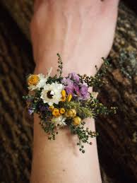 corsage flowers wrist corsage dried flowers simple and dainty