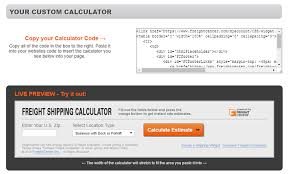 Freight Shipping Estimate by Freight Shipping Calculator Freightcenter