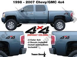 2007 Chevy Silverado Pics 4x4 Truck Bed Side Decal For 1998 2007 Chevy Silverado Gmc Sierra Hd