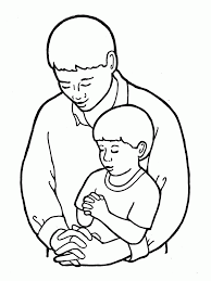 dad and son coloring page kids coloring