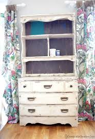 chalk painted hutch chaotically creative