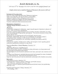 Resume Example 47 College Of by Inspiring Pharmacist Resume Sample Canada 47 For Good Resume