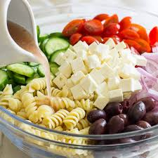 easy greek pasta salad oh sweet basil