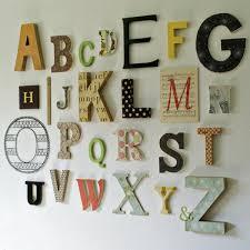 lettres d馗oratives cuisine arrangement de lettre décorative murale archzine fr