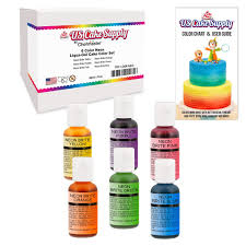 amazon com 12 food color secondary us cake supply by chefmaster