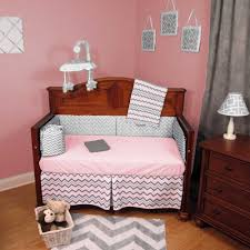 pink chevron baby bedding sets for a