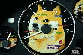 Doge Meme Car - much doge such gauges wow revlimiter net